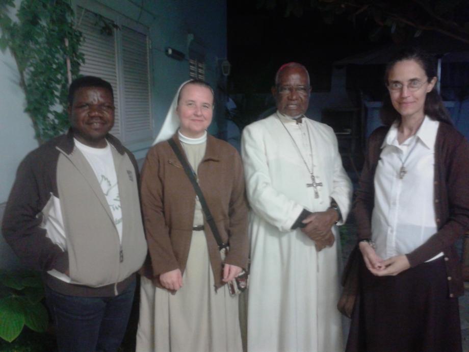 Fr Afonso, Ir Stefania, Dom Anastasio e sr Fatima